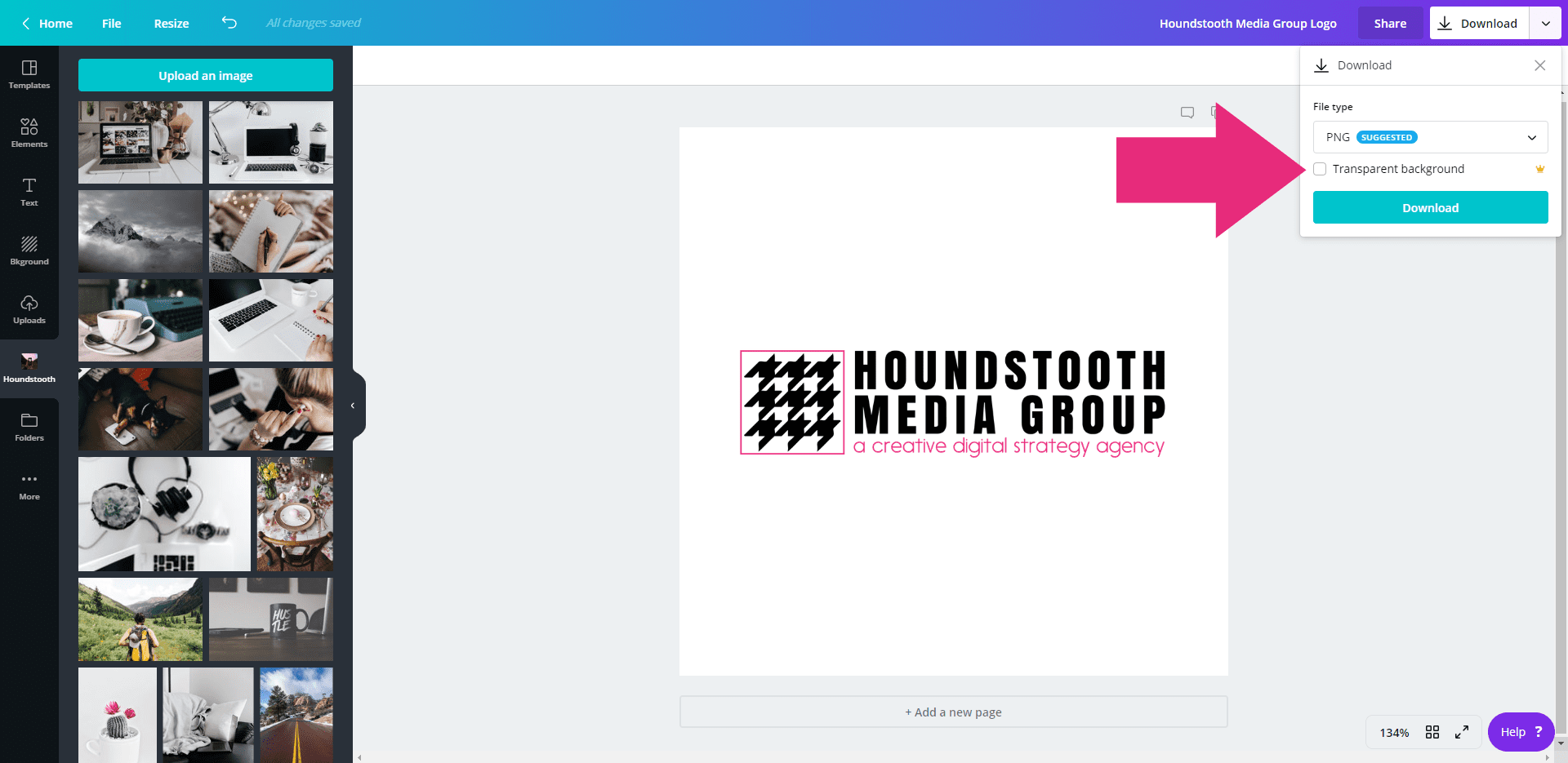 How to Make a Transparent Background in Canva • Houndstooth